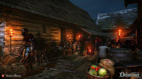 Kingdom Come: Deliverance ночная деревня