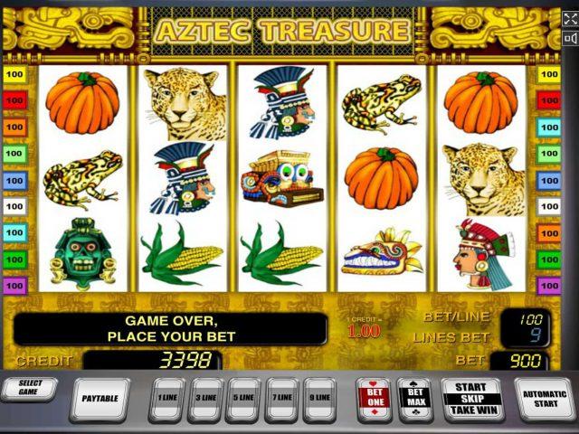 Игровой аппарат казино Вулкан Aztec Treasure