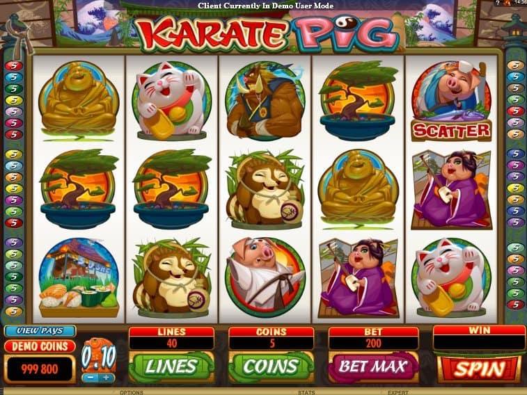 Слот Karate Pig