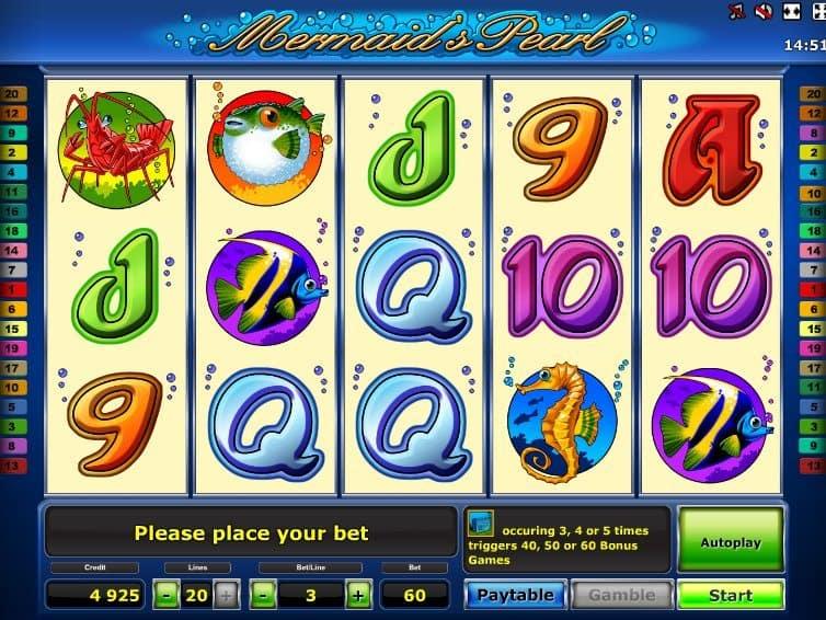 Бесплатная игра в казино Вулкан Mermaid's Pearl