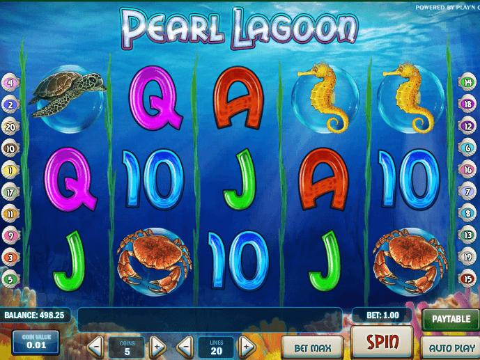 Символы слота Pearl Lagoon
