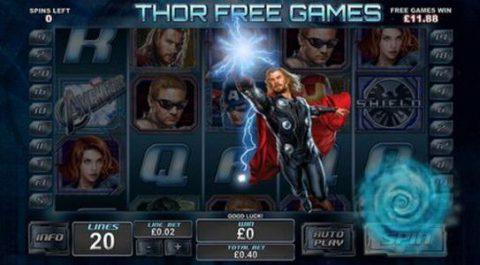 Бесплатная игра игрового автомата The Avengers