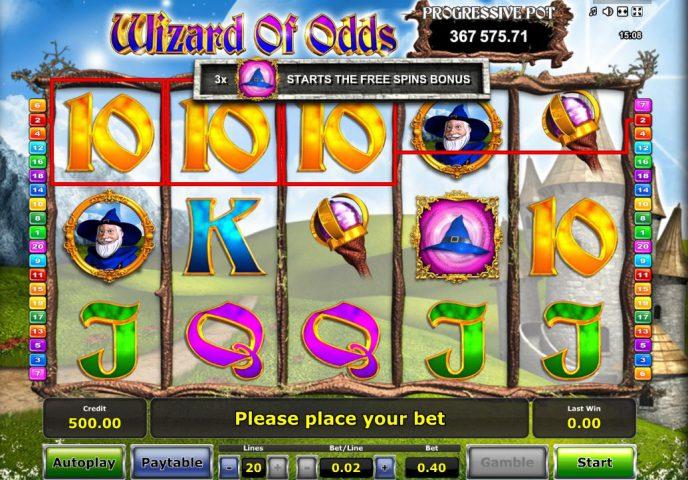 Фэнтезийный игровой автомат Wizard Of Odds