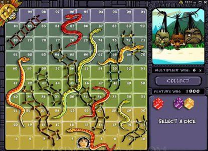 Бонусная игра слота Big Kahuna: Snakes and Ladders