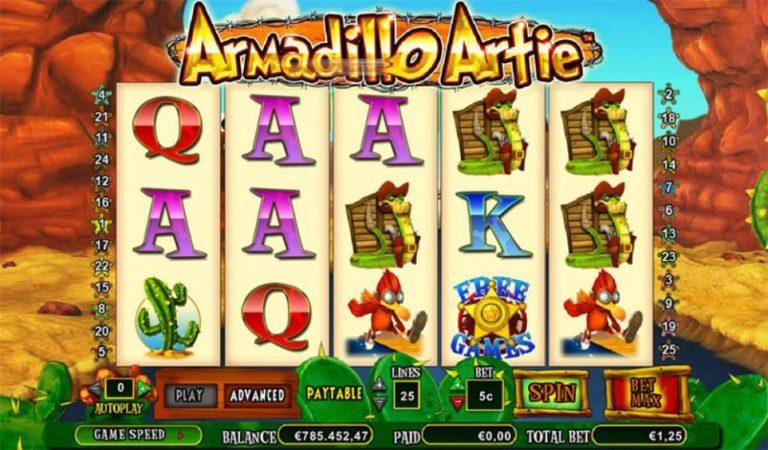 Игровой аппарат Armadillo Artie на сайте онлайнказино