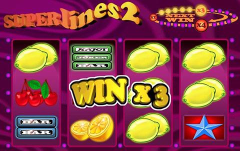 Игровой автомат Superlines 2 на реальные деньги с выводом — Обзор