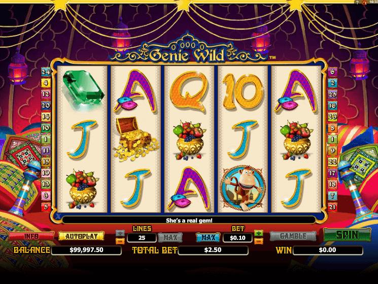 Genie Wild игровой автомат на деньги