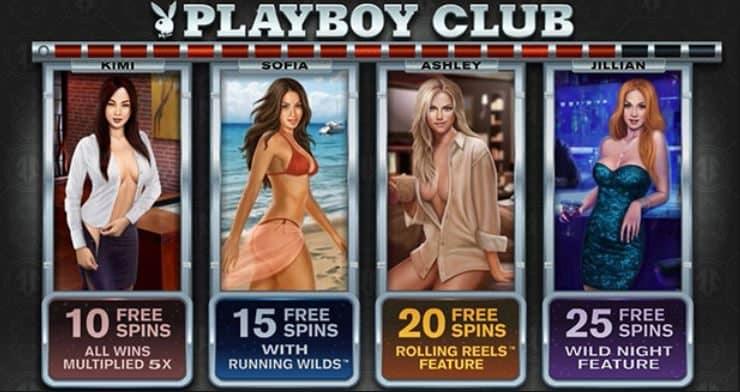 Бесплатные вращения игрового автомата Playboy