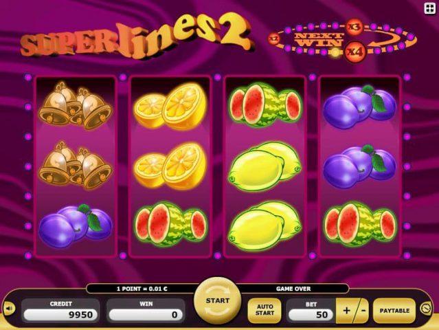Игровой автомат Superlines 2 на реальные деньги