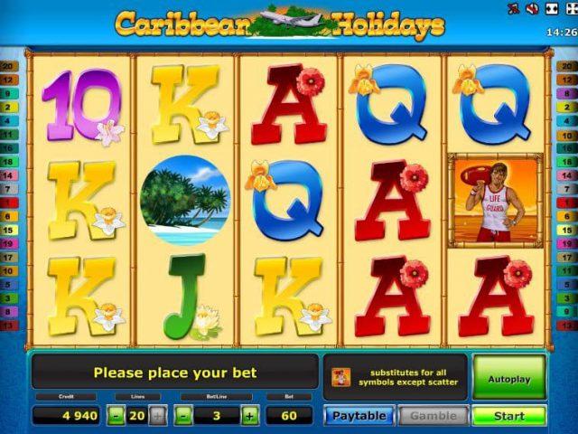 Слот Caribbean Holidays в интернет казино Вулкан Платинум