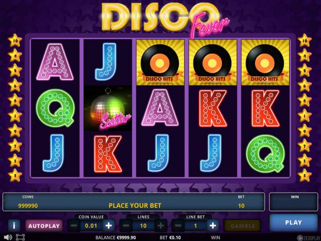 Слот Disco Fever на деньги в казино Вулкан Россия