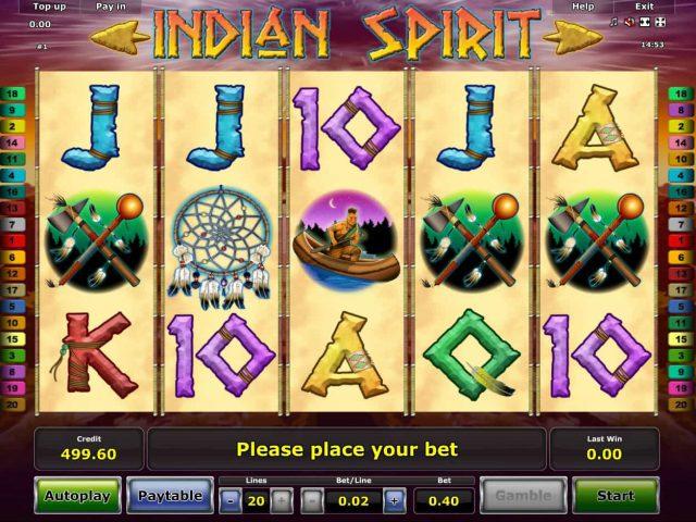 Слот Indian Spirit на сайте игровых автоматов Вулкан Гранд