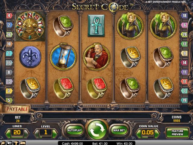 Игровой автомат Secret Code в казино Лотору