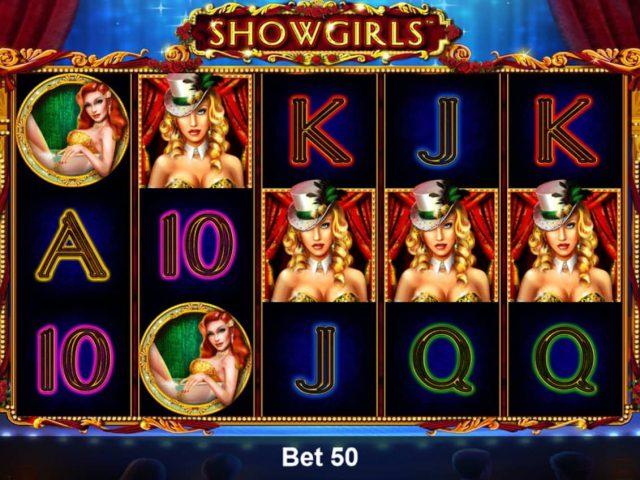 Игровой аппарат Showgirls в казино Вулкан