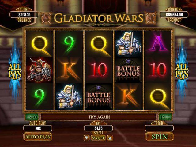 Игровой слот Gladiator Wars в казино Вулкан