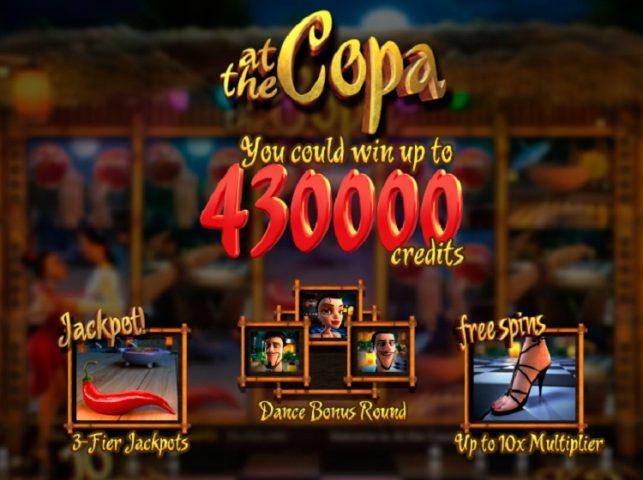 Возможности слота At the Copa