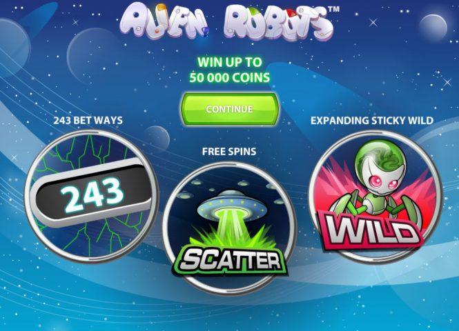 Бонусные символы слота Alien Robots