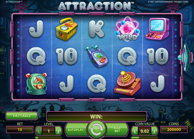 Слот Attraction в онлайн казино Лотору