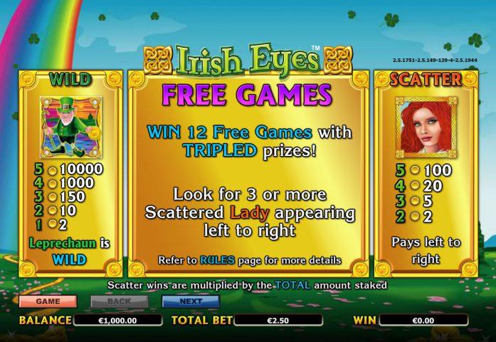 Бесплатные игры в Irish Eyes