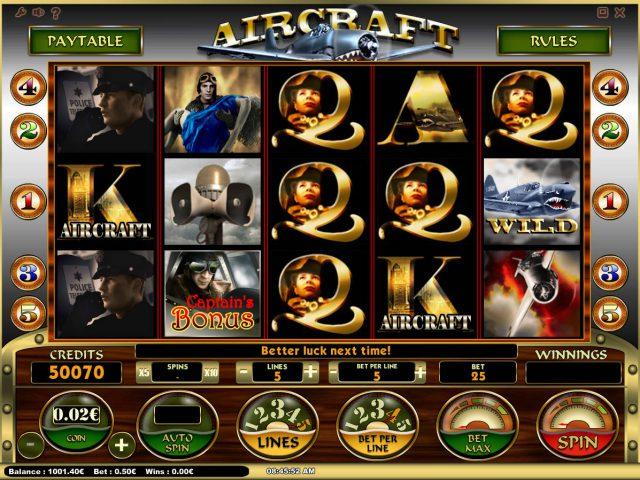 Игра в слот 777 Aircraft в казино Вулкан