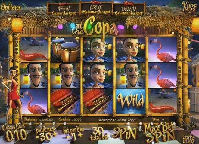 Слот At the Copa с щедрыми бонусами и промокодами в казино Вулкан Старс