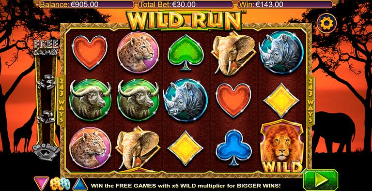 Слот Wild Run в казино Вулкан на деньги