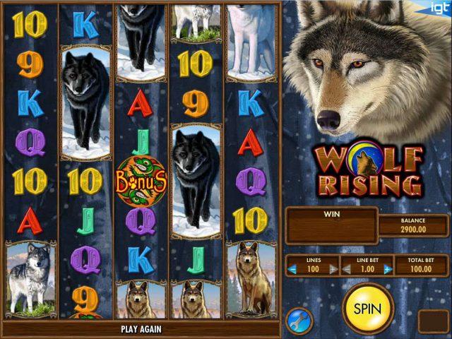 Игровой автомат Wolf Rising в казино Вулкан Делюкс