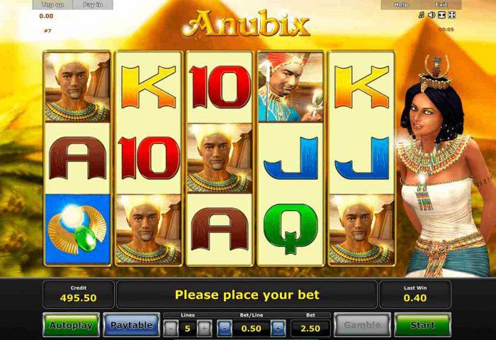 Игровой автомат Anubix в казино Эльдорадо
