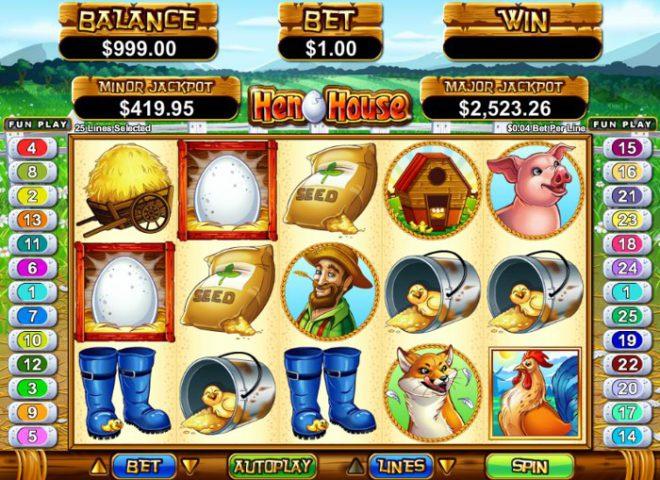 Игровой автомат на деньги Hen House в казино GMSlots