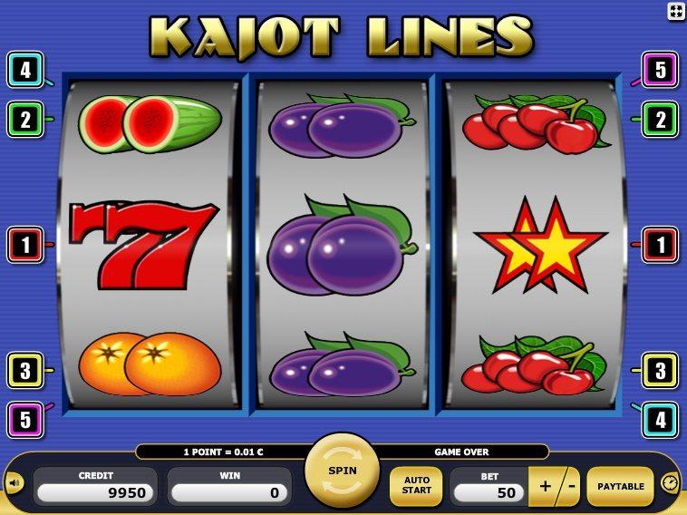 Простой слот Kajot Lines в казино Вулкан