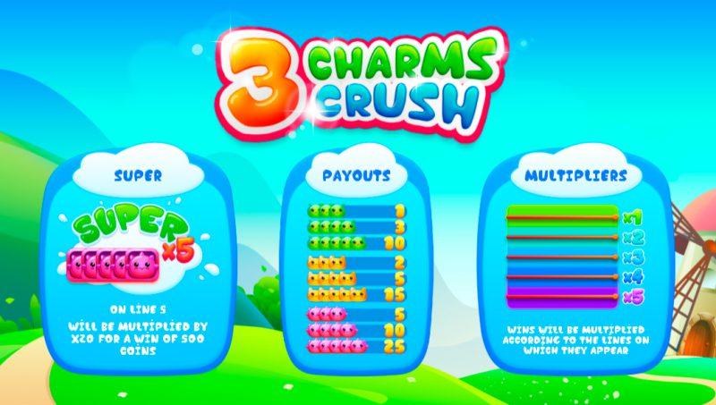 Таблица выплат слота 3 Charms Crush