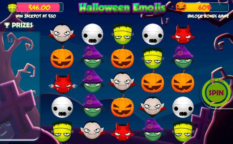 Игровой автомат Halloween Emojis в казино Вулкан Неон
