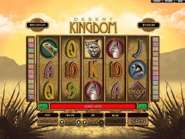 Слот Desert Kingdom в рабочем зеркале сайта казино Вулкан