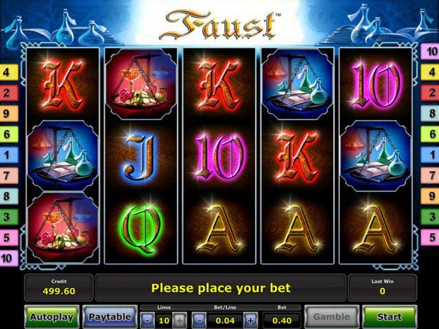 Слот Faust в казино Чемпион