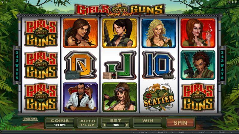 Игровой аппарат Девушки с Оружием в казино Фараон