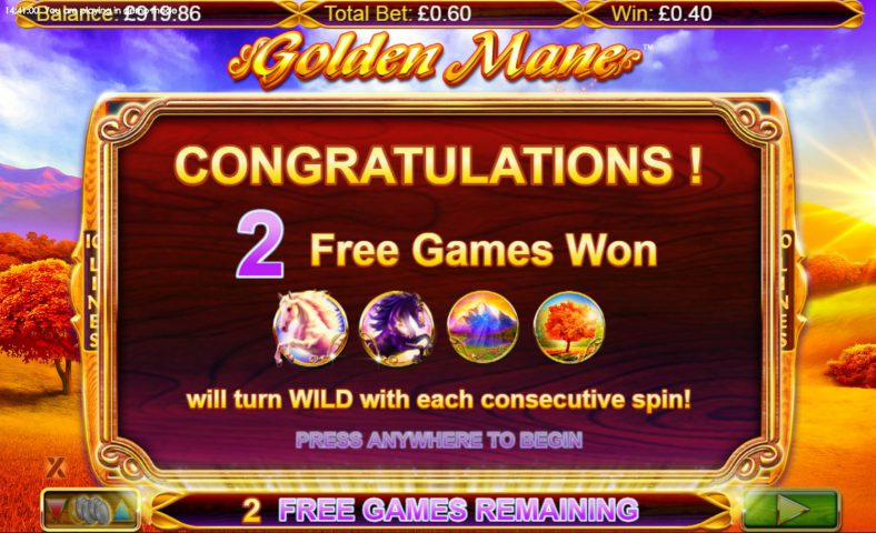 Победа в слоте Golden Mane