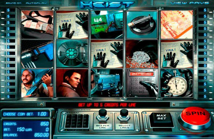 Слот Heist в онлайн казино Чемпион