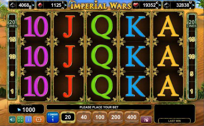 Игровой аппарат Imperial Wars на тему войны в казино Эльдорадо