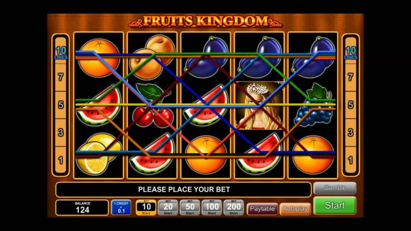 Слот Fruits Kingdom в казино Вулкан
