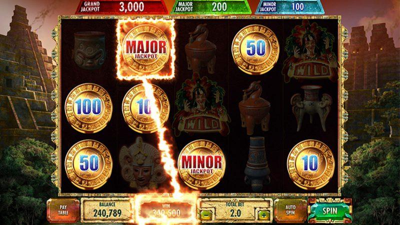 Выигрыш бонуса в слоте Mayan Gold