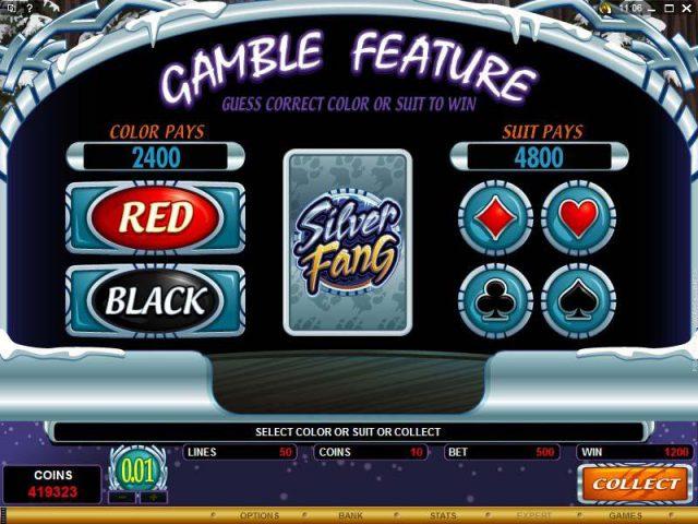 Азартная игра в слот Silver Fang