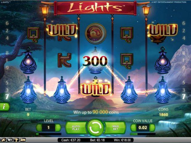 Игровой автомат Lights в онлайн казино Сто слотов
