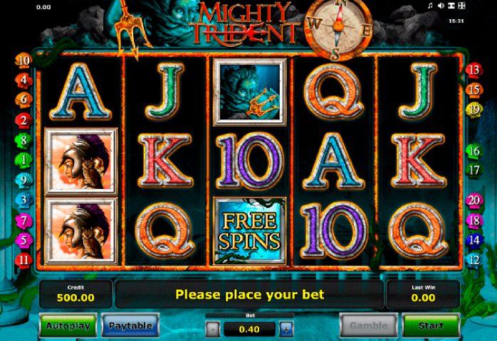 Игровой автомат Mighty Trident в Азино 777
