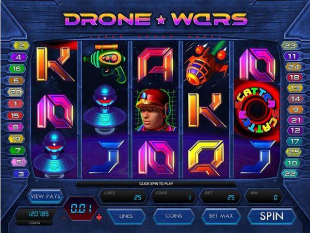 Игровой автомат Drone Wars в казино Вулкан 24