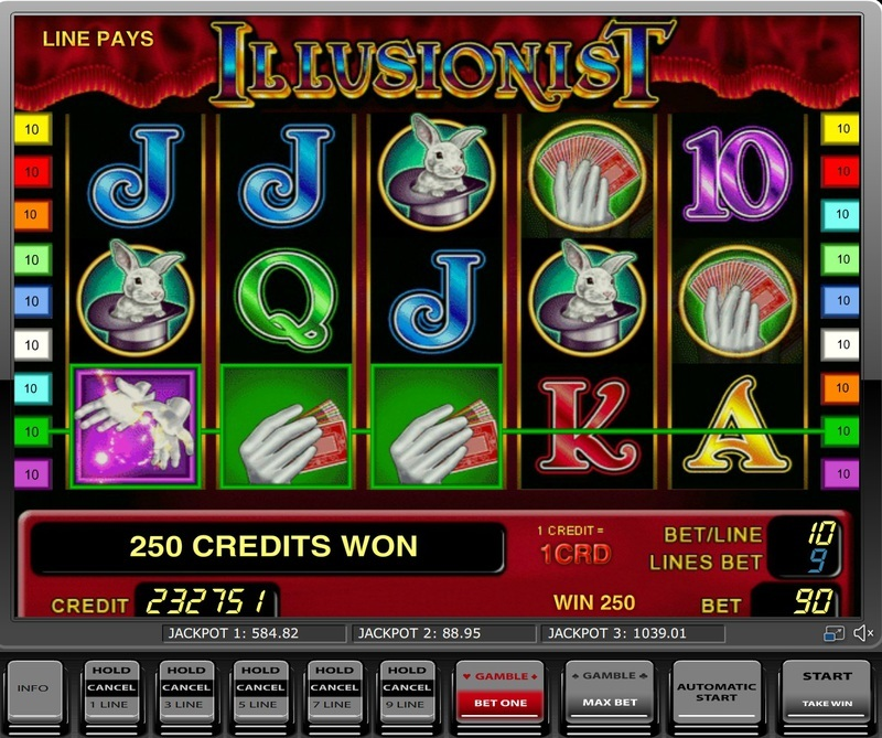 Игровой автомат Illusionist в клубе Вулкан