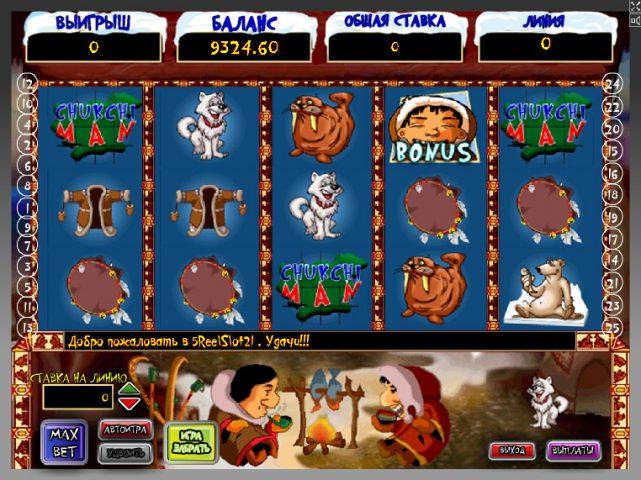 Игровой автомат Chukchi Man в клубе Вулкан 24