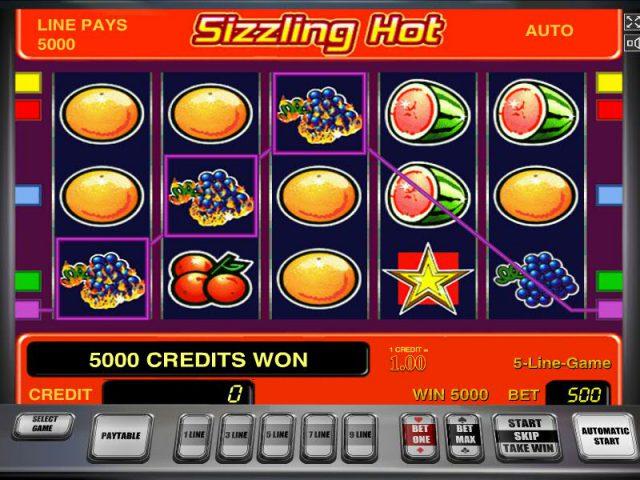 Слот Сиззлинг Хот на деньги в электронном казино