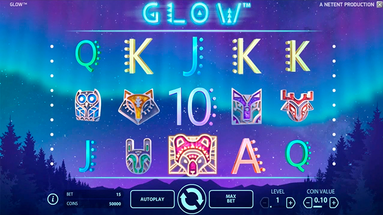 Обзор игрового автомата Glow в онлайн казино Azino777
