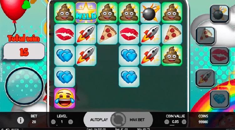 Слот Emoji Planet в зеркале сайта казино Вулкан