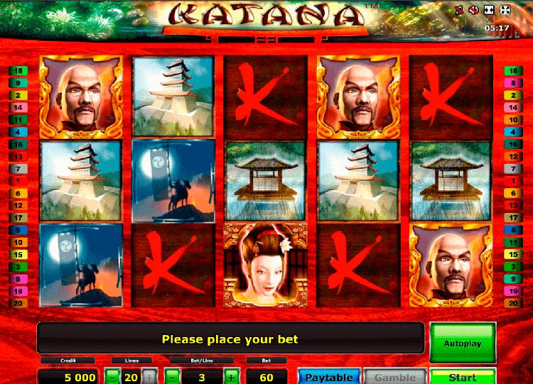 Игровой автомат Katana на сайте казино Azino 888
